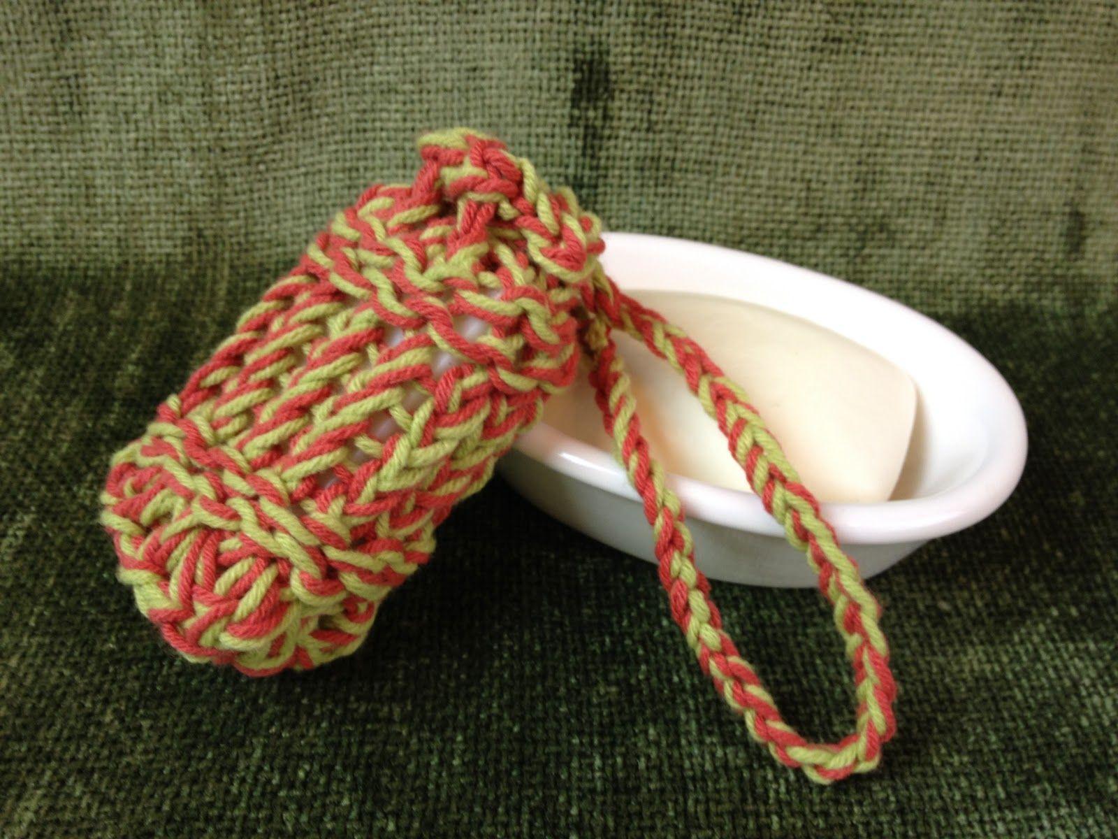 Loom+Knitting+Bag+Pattern | GoodKnit Kisses: FREE PATTERN: Loom Knit Mesh Soap Bag (small ...