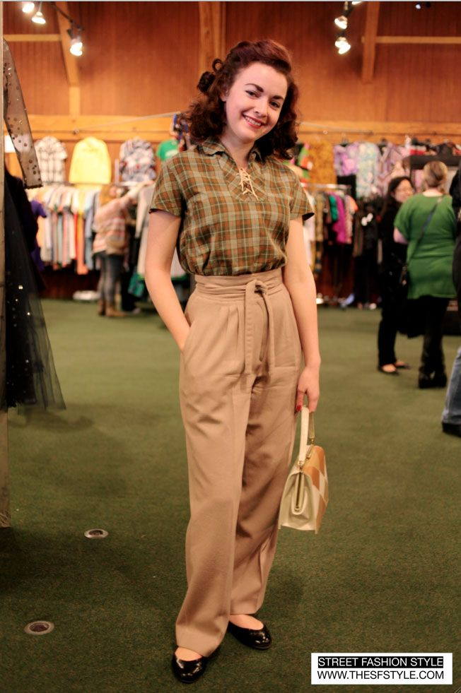 40s style trousers