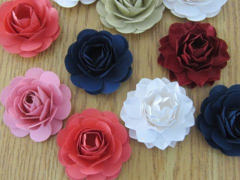 How to make paper flowers with a punch youtube paper flowers how to make paper flowers with a punch youtube mightylinksfo
