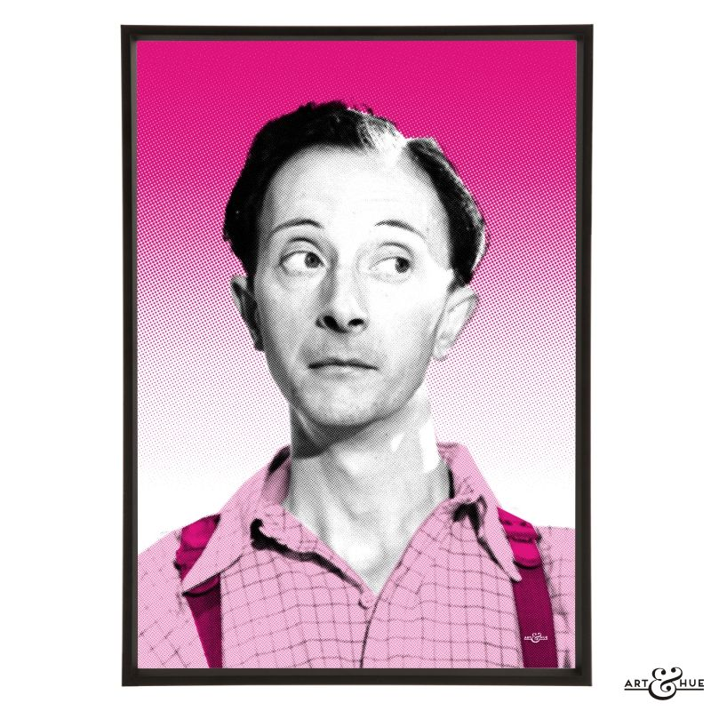 Pop art portrait of Charles Hawtrey, the camp star of the Carry On films. Unframed print on fine art archival paper using pigments inks which last lifetimes
