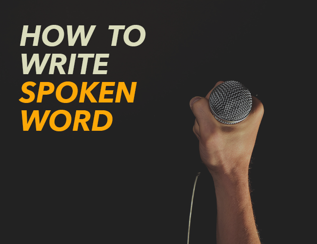 how to write spoken word poetry pdf
