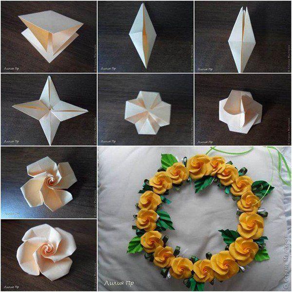 Amazon.com: dozen origami paper roses flower bouquet ... | 600x600