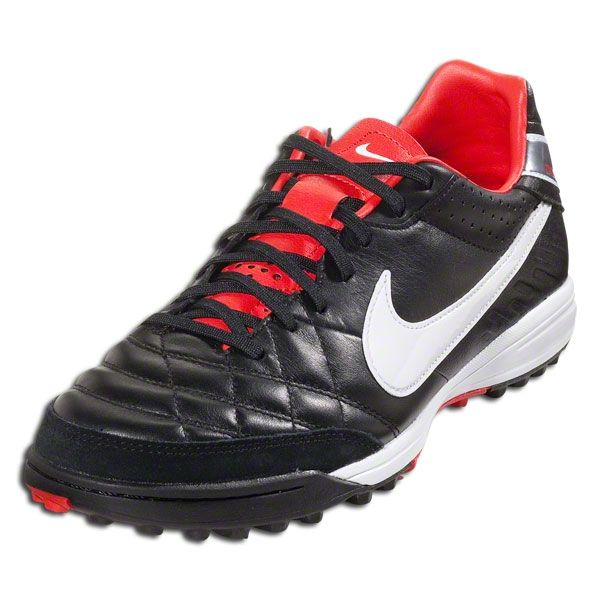 outlet store 94614 136fb Nike Tiempo Mystic IV TF - Black White Metallic Gray Red Turf Soccer Shoes