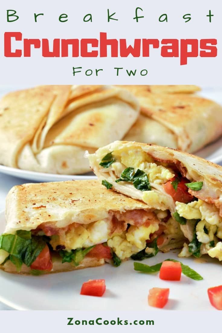 Breakfast Crunchwraps are an easy and delicious alternative to breakfast burritos which don't have
