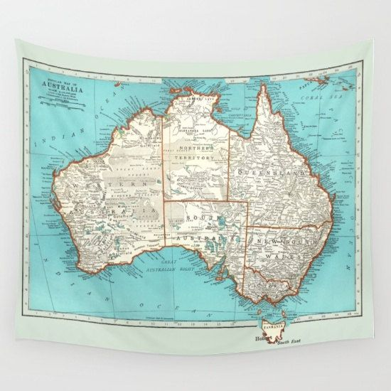 Australia map fleece blanket throw cozy sofa couch bed travel australia map fleece blanket throw cozy sofa couch by mapology gumiabroncs Images