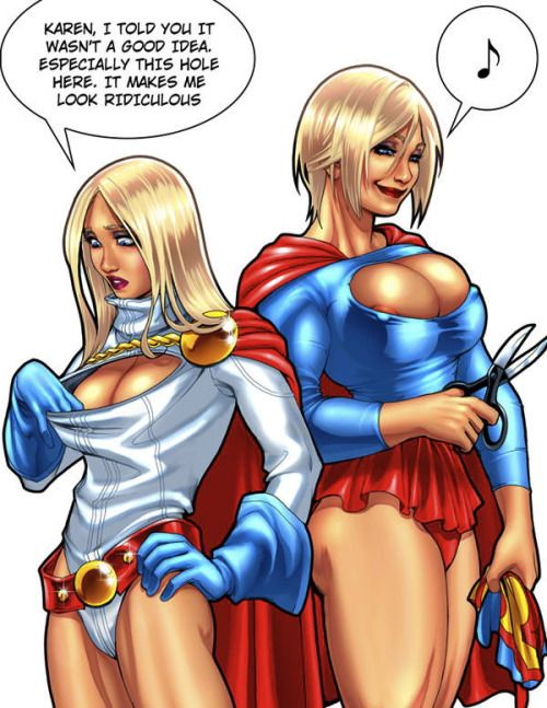 Superman supergirl and power girl porn