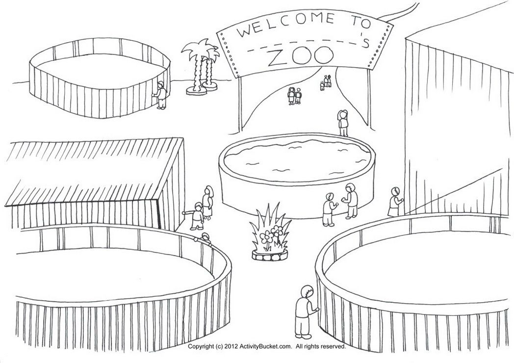 Pagina Para Colorear De Zoo: Zoo-draw-your-own-animals-611447 « Coloring Pages For Free