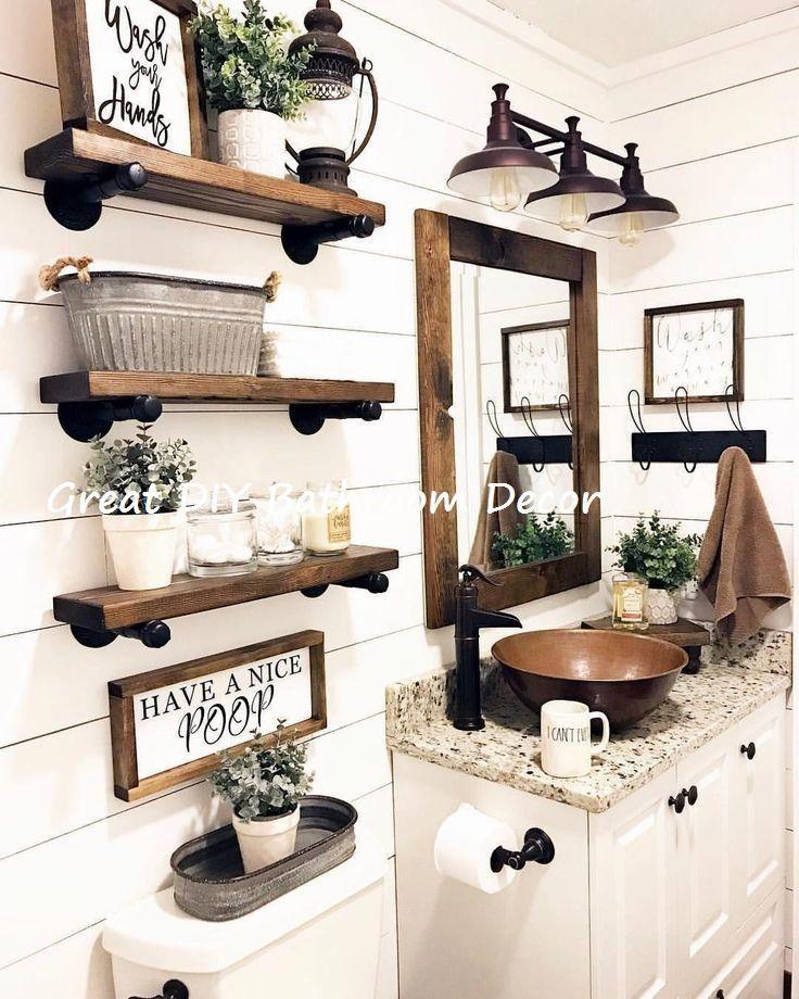 14 Very Creative DIY Ideas For The Bathroom #bathroomideas