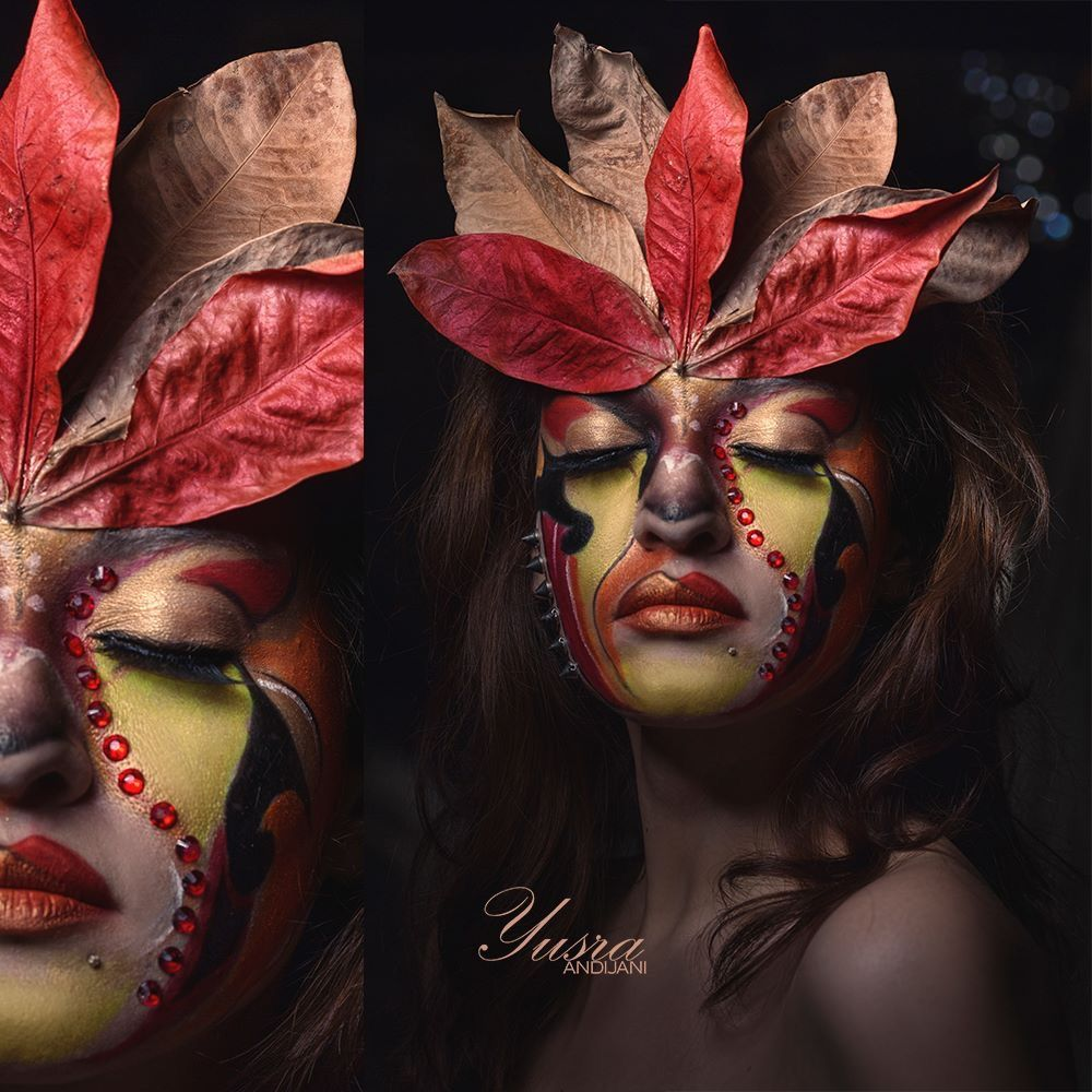 Listen The Wind Is Rising And The Air Is Wild With Leaves We Have Had Our Summer Evenings And Now For October Eve Portrait Halloween Face Makeup Photoshoot
