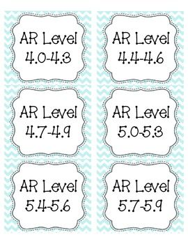 Light blue chevron ar book bin labels bin labels sticky labels light blue chevron ar book bin labels pronofoot35fo Images