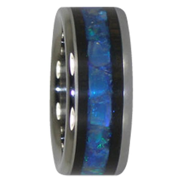 9 mm Australian Opal and Blackwood Inlay, Titanium A229H