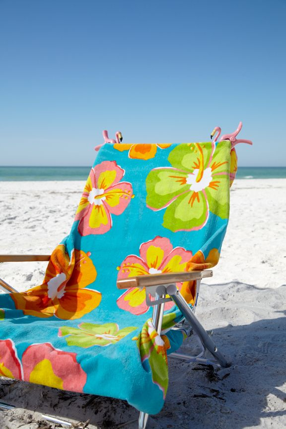 Beach Chair Awaits I Know Only One But Love The Pins For Towel