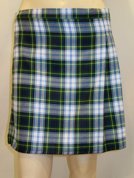 Plus green and white plaid dress