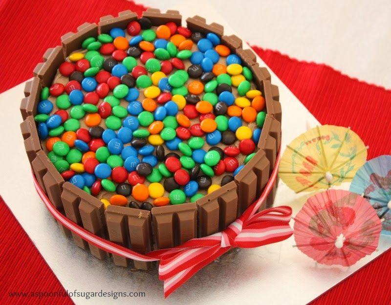 Kit Kat Birthday Cake A Spoonful of Sugar cake Pinterest