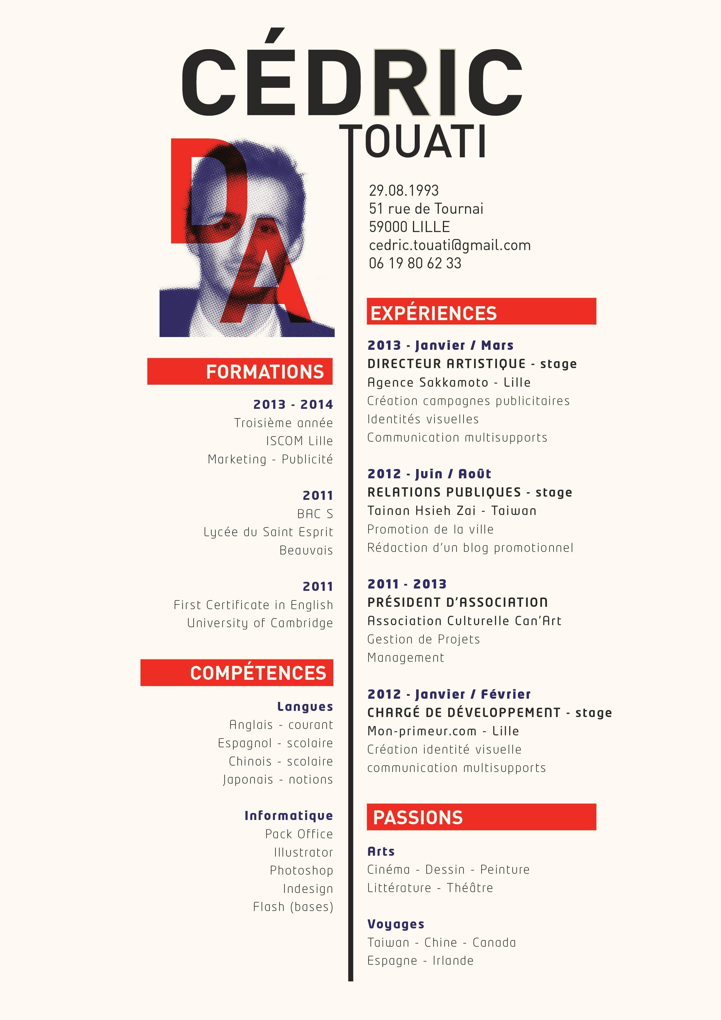 c u00e9dric touati - directeur artistique  art director  resume