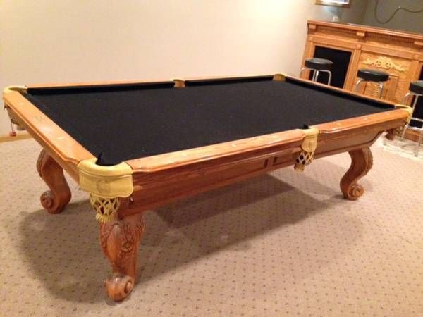 Connelly Billiards Solid Wood Gorgeous Pool Table For Sale SOLD - Connelly billiard table
