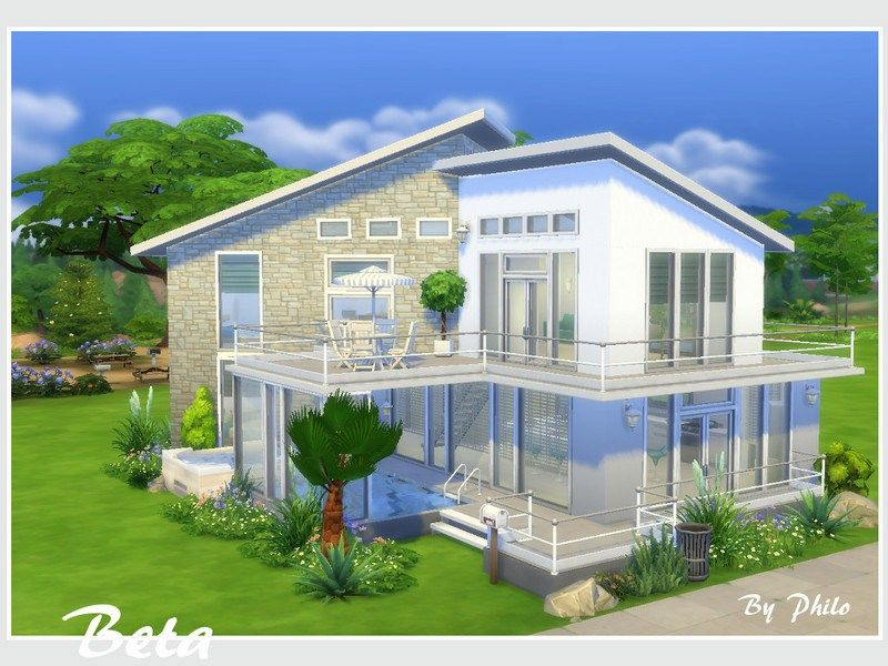 Beta No Cc Sims 4 House Design Sims House Sims House Plans