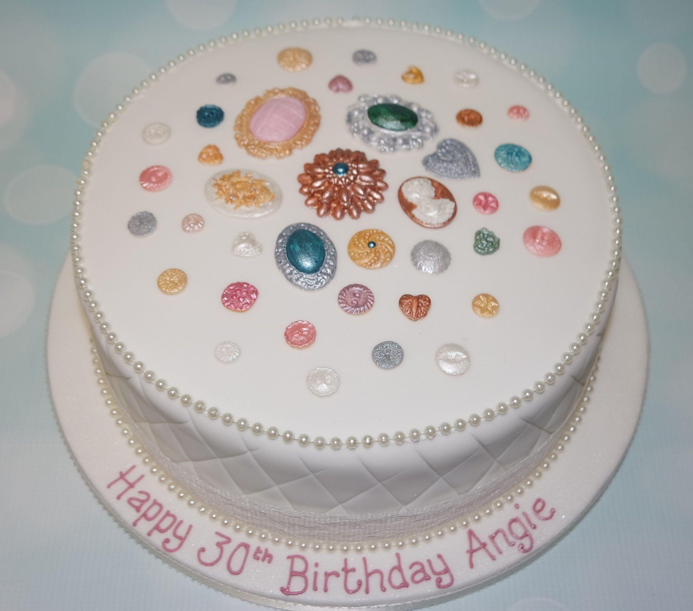 Such An Elegant 30th Birthday Cake Birthday Cakes Pinterest