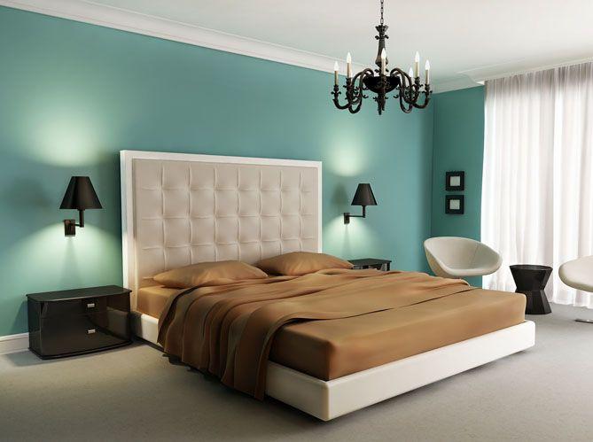 Couleur de peinture pour chambre tendance en 18 photos ! Room - chambre bleu gris blanc