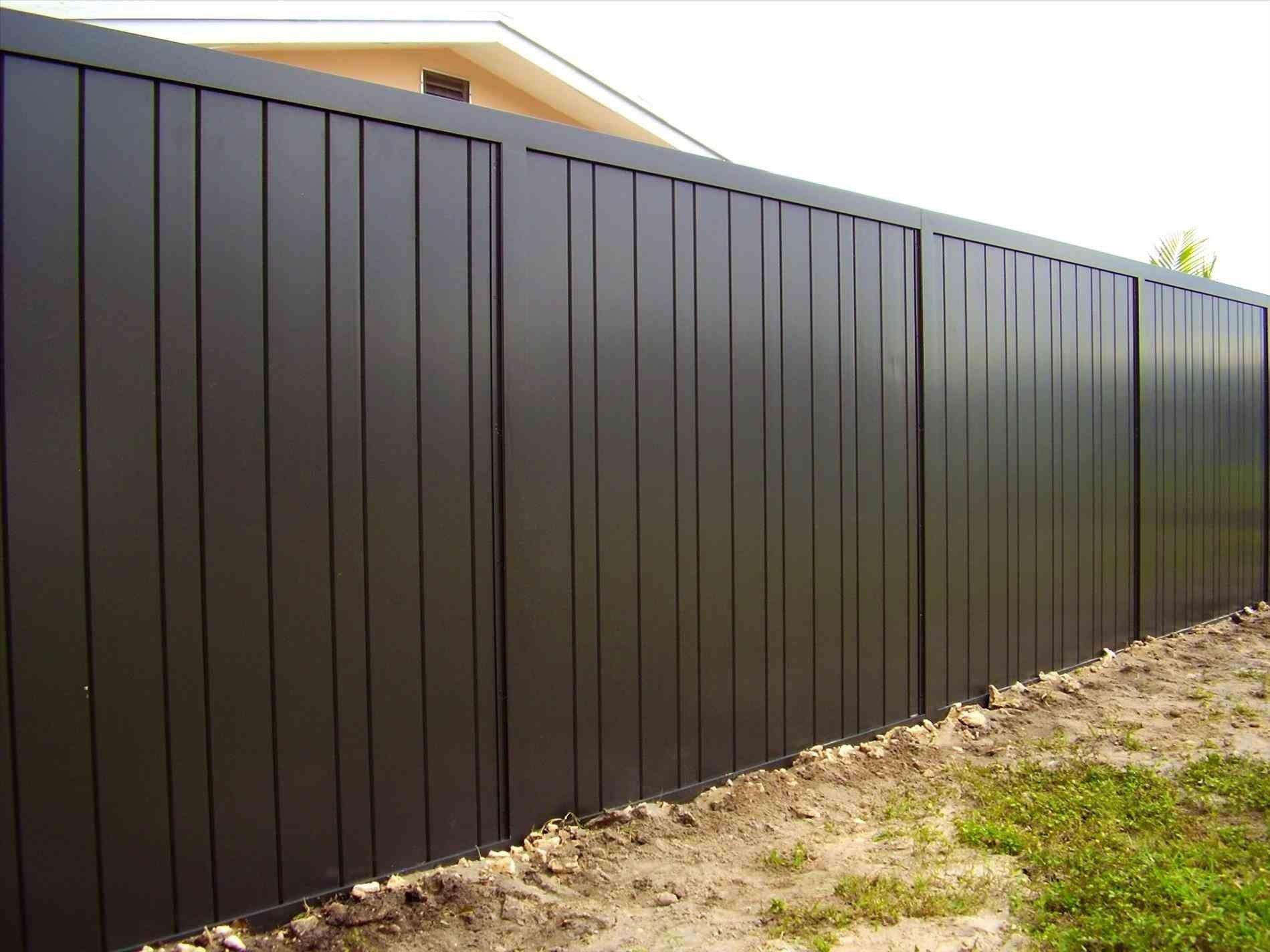 Phantasy Black Corrugated Metal Fence Panels Spectacular