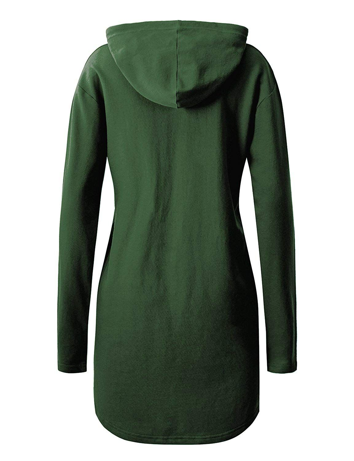 Regna X Women S Long Sleeve Casual Hoodie Dress With Kangaroo Pocket 10 Colors Plus Size Available F Plus Size Prom Dresses Long Hoodie Long Sleeve Casual [ 1500 x 1153 Pixel ]
