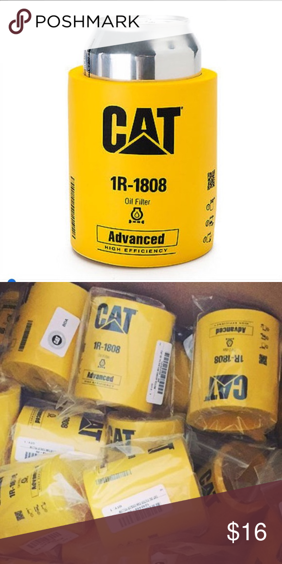 Caterpillar CAT Equipment Foam Oil Filter Koozie Boutique