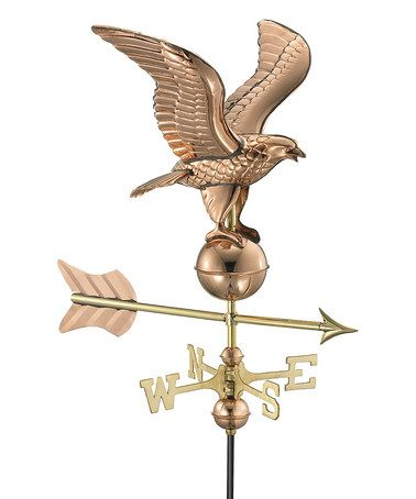 Polished Copper Eagle Weather Vane Zulily Zulilyfinds Good Directions Weathervanes Copper Roof
