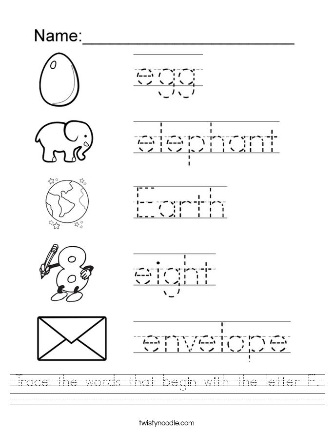 Image Result For Letter E Worksheets Teaching My Kids