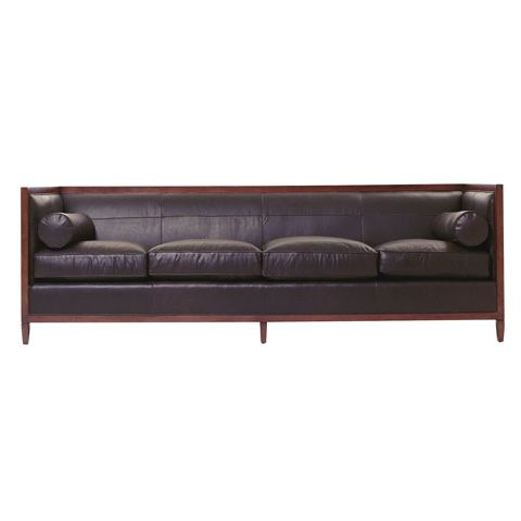 Baker Furniture Archetype Wood Banded Sofa 6370 98 Sofa