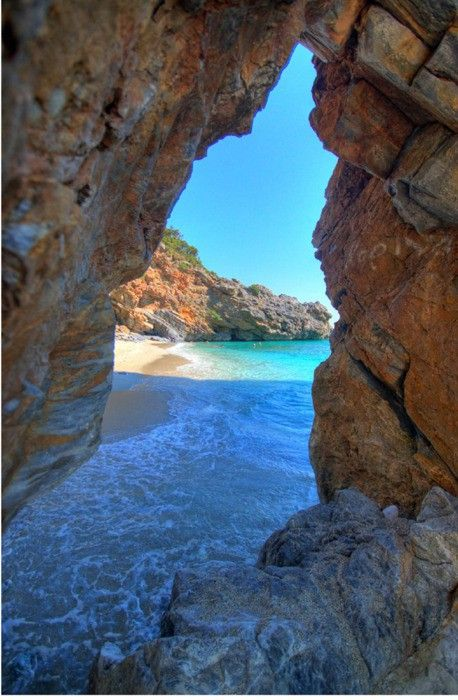Sea Cave, Milopotamos, Pilio, Greece photo via amanda