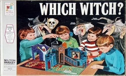 The Which Witch board game was released in 1970, as part of a wave of popular horror-themed board games of the late 1960s and early 1970s. Description from en.wikicollecting.org. I searched for this on bing.com/images
