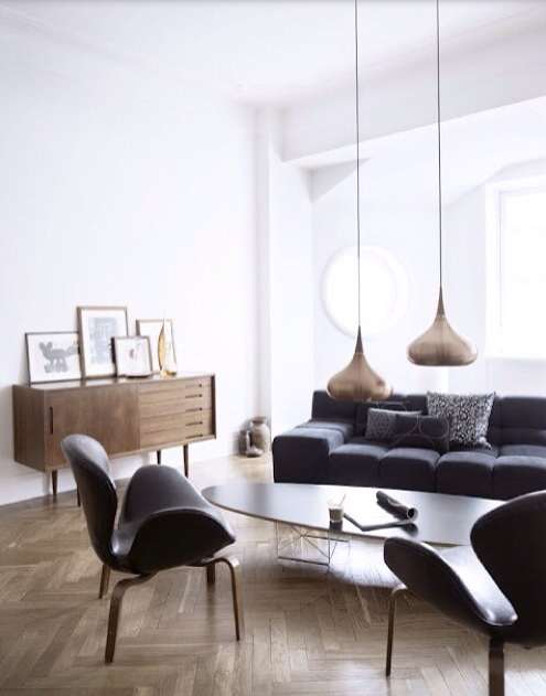 Cool lamps and chair!