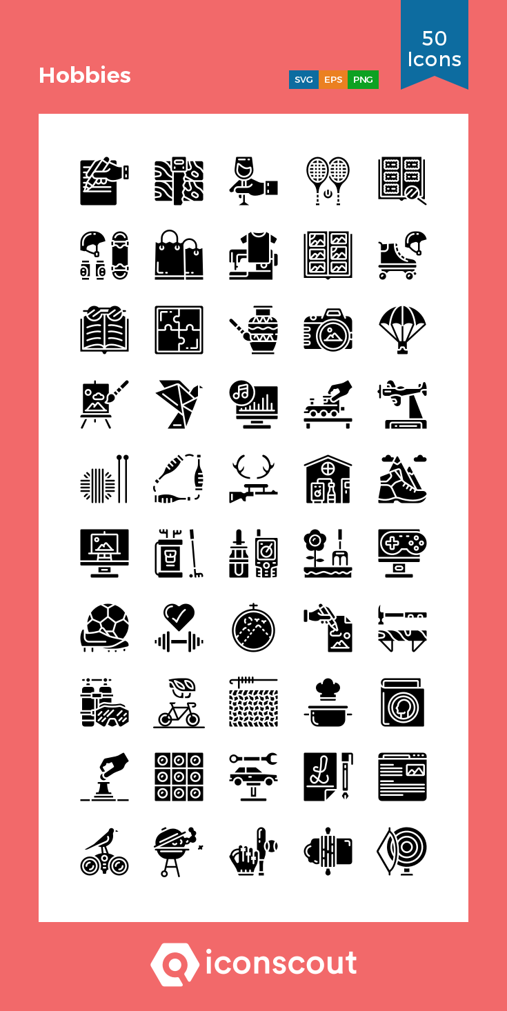 Download Hobbies Icon Pack Available In Svg Png Eps Ai Icon Fonts Icon Pack Icon Network Icon