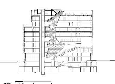 morphosis: cooper union building section | architectural drawings
