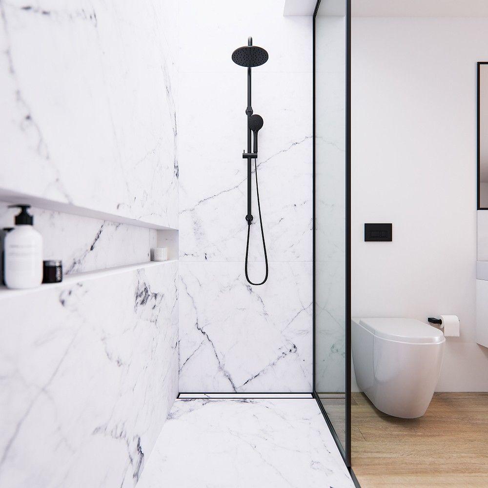 Axus Shower Column In Matte Black Axus Matte Black Shower Bathroom Small Bathroom Renovations Shower Columns Bathroom Shower Walls