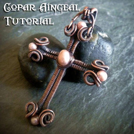 Photo of TUTORIAL – Scrolls and Coils Cross – Wire Wrapped Tutorial – Jewelry Pattern – Wire Wrapping – Wire Wrapped Pandant Lesson – Cross Pendant