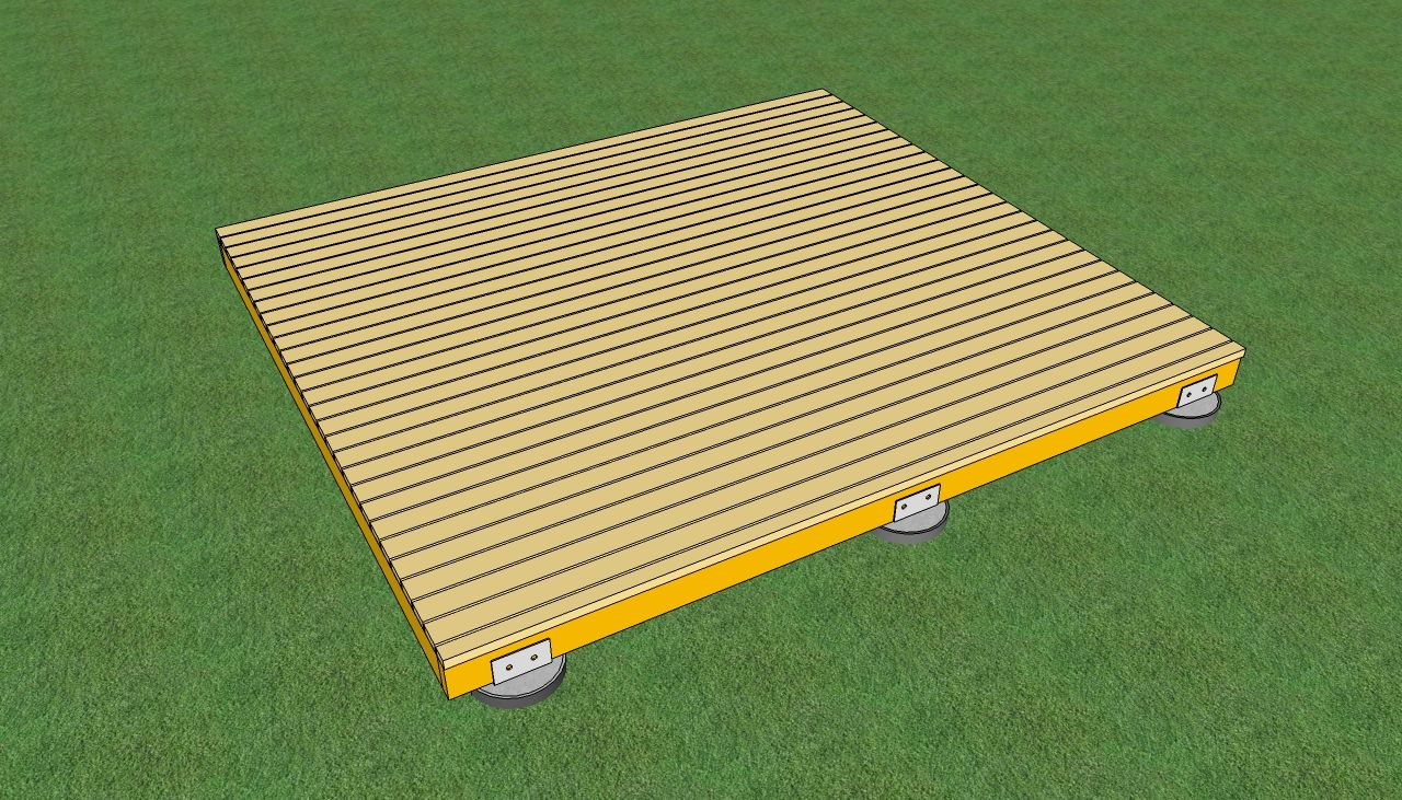 Freestanding Wood Deck | How To Build A Deck On The Ground |  HowToSpecialist   How