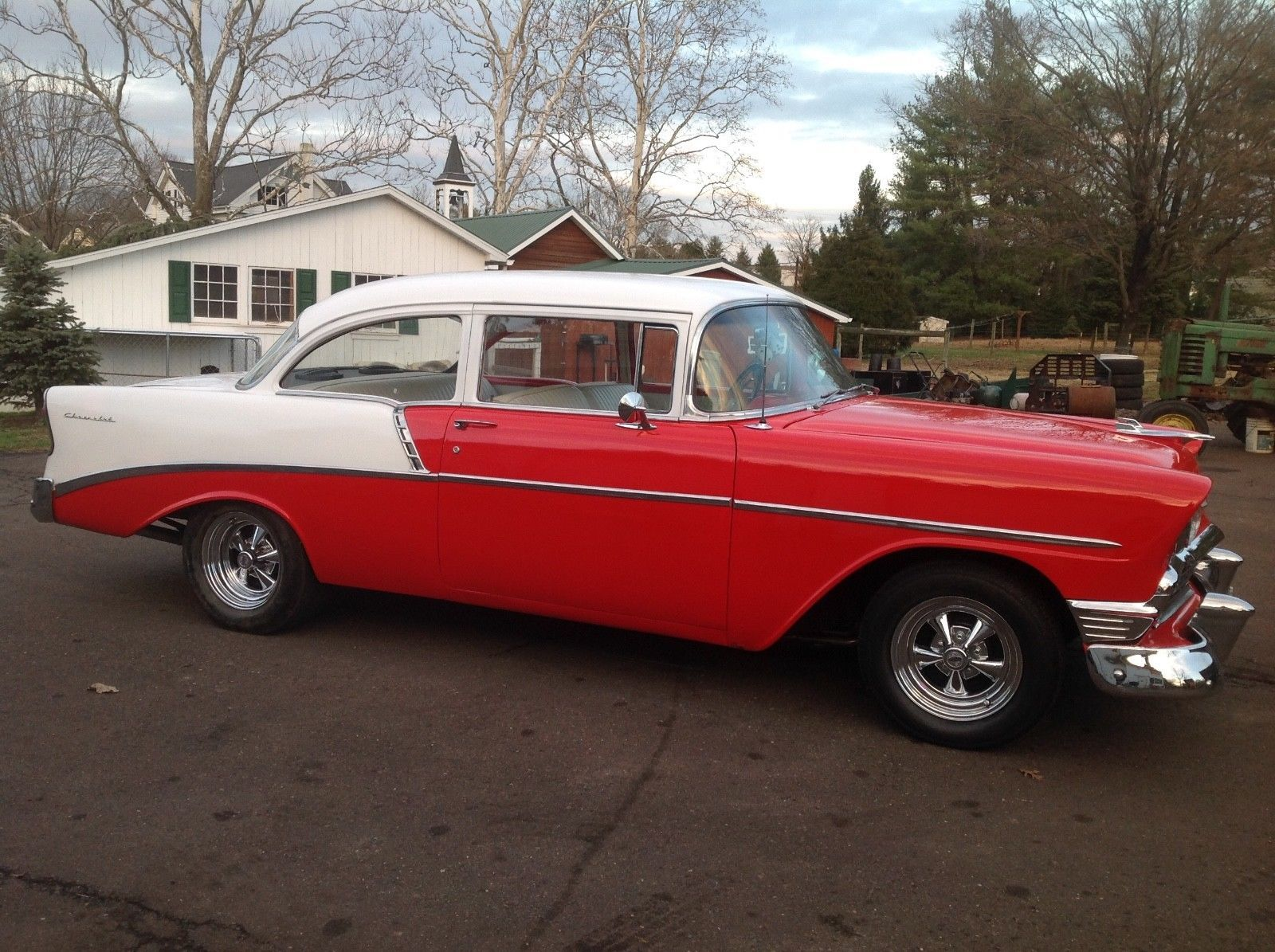 1956 chevrolet bel air custom flat red paint youtube - Awesome Great 1956 Chevrolet Bel Air 150 210 1956 Chevy Old School Restoration 350