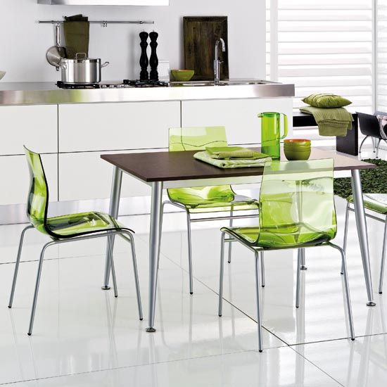 Modern Kitchen Table And Chairs With Bright Colors From Domitalia Modern Kitchen Chair Contemporary Kitchen Tables Small Kitchen Tables