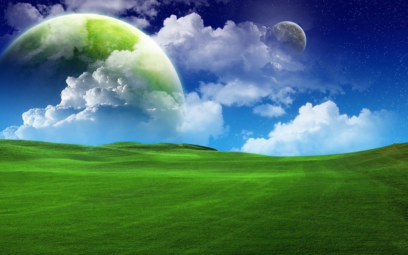 Landscape Hill Nature Grass Sky Field Clouds Earth Green