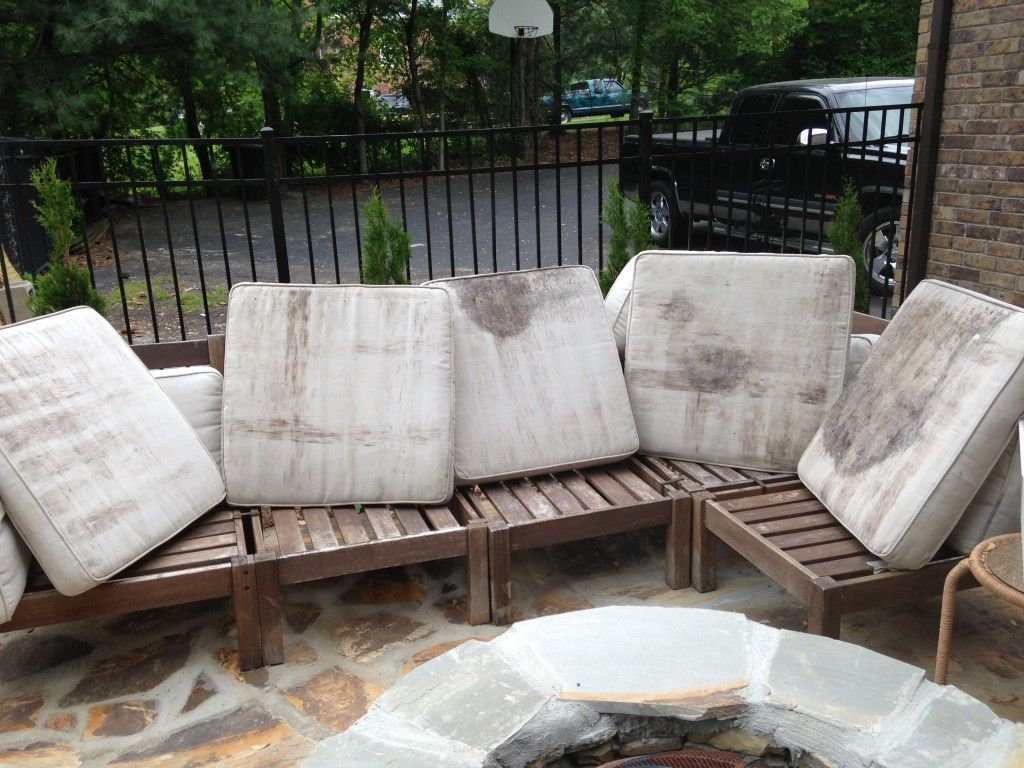 how to rehab an outdoor sectional | clean mildew | pinterest