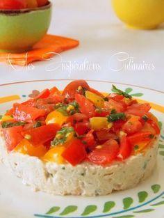tartare de tomates aux rillettes de thon   Le Blog cuisine de Samar
