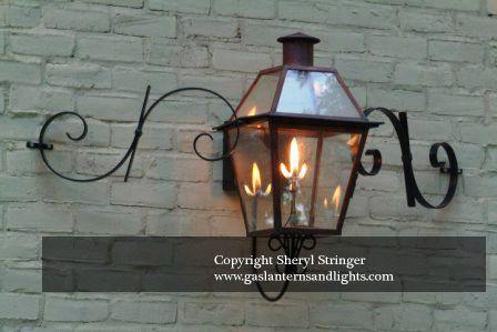 Estate Gas Lantern New Orleans Style