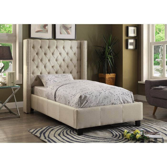 Meridian Furniture USA Upholstered Platform Bed U0026 Reviews | Wayfair