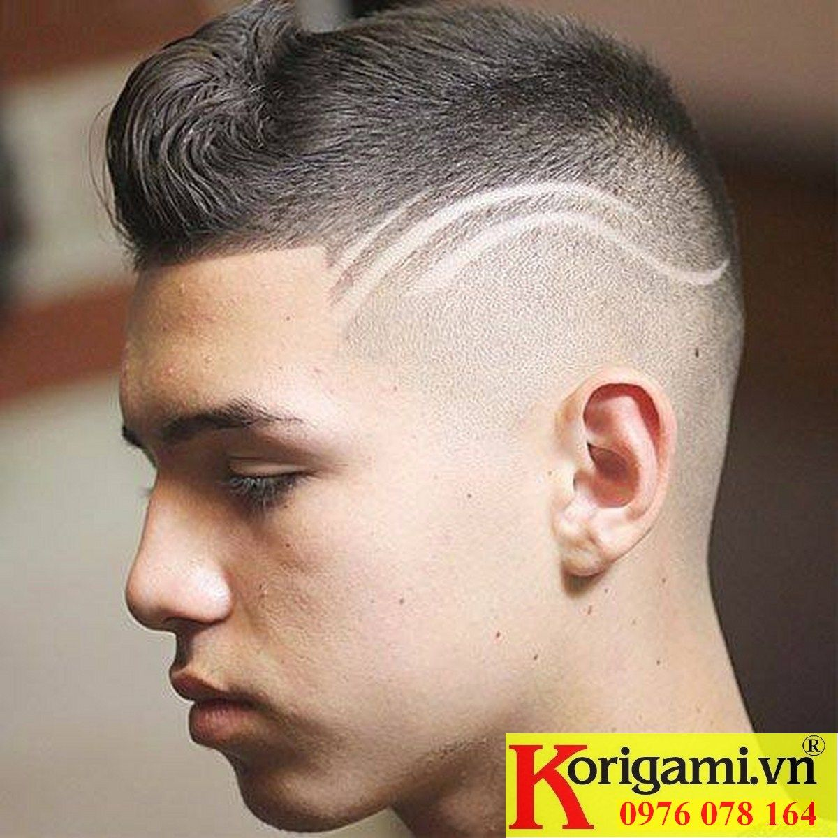 Boy haircuts high fade pin by truong day nghe toc korigami hanoi on haircut with tatoo