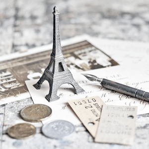 Image of Small Vintage Eiffel Tower