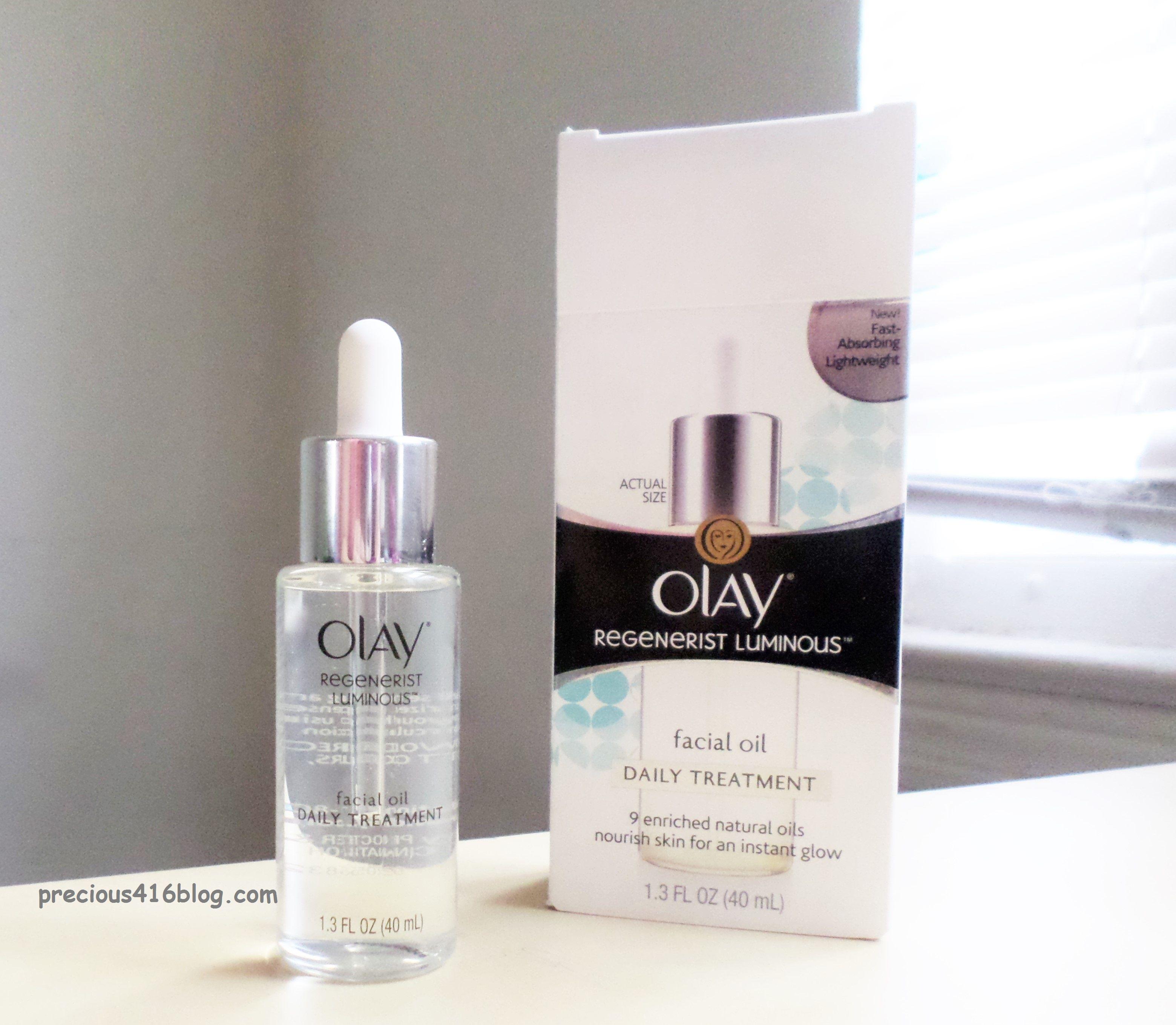 Olay Regenerist Luminous Facial Oil Review bbloggers