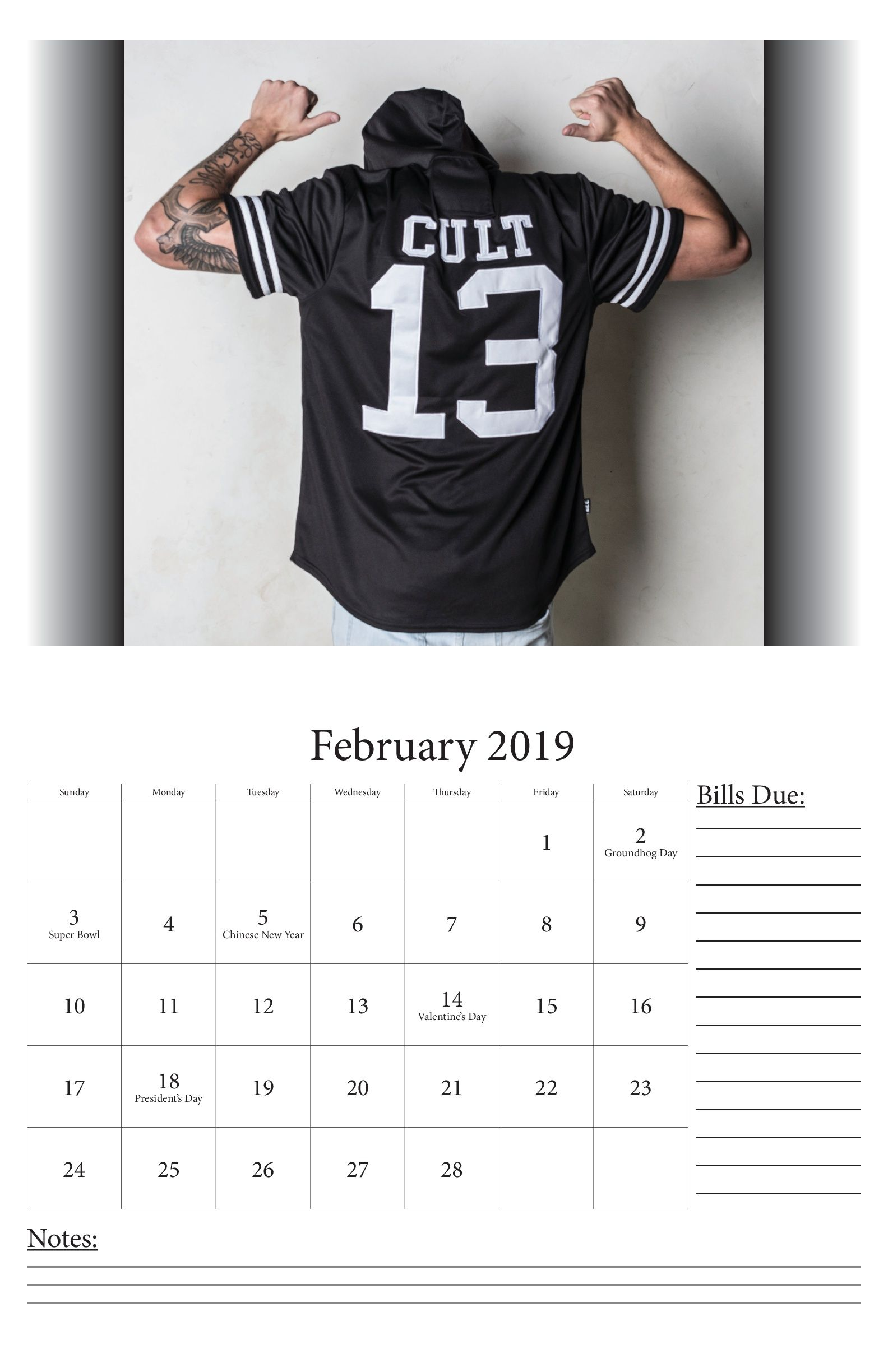 December Calendars 2019 Indesign December picture and February calendar