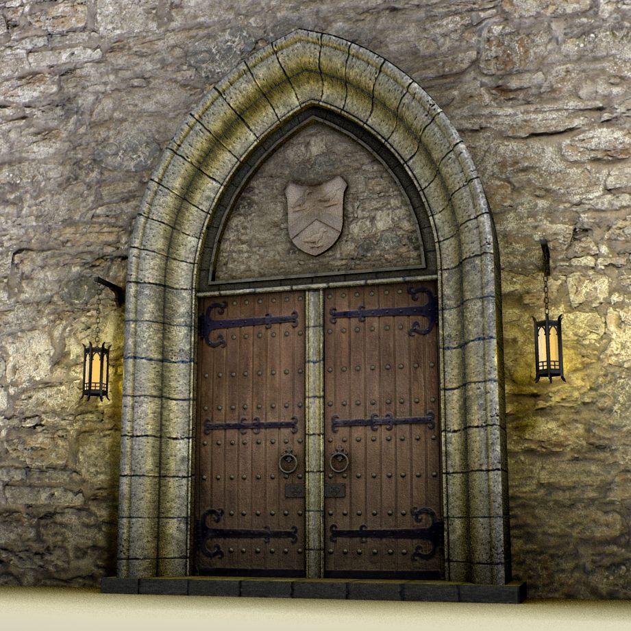 Medieval Front Doors: Medieval Doors 3d Model Pldz 1