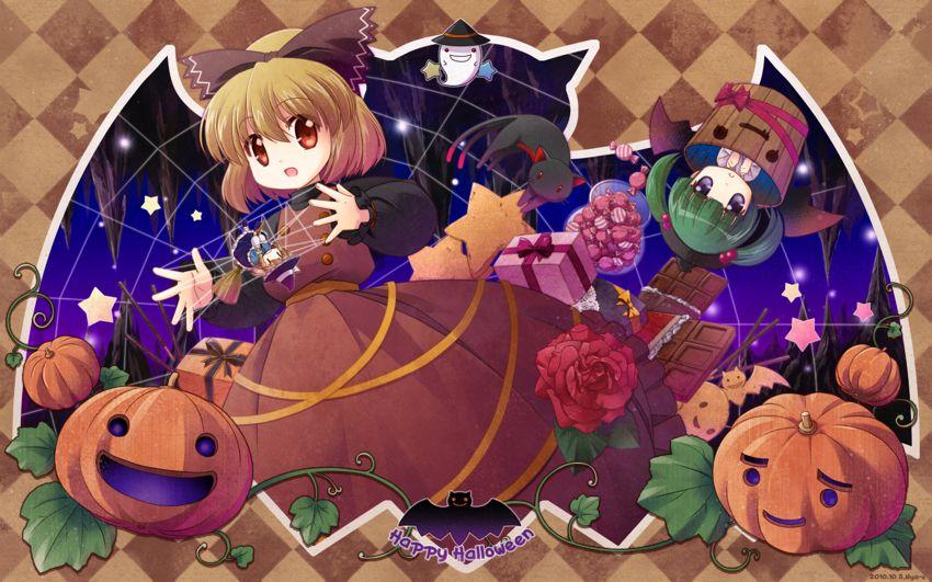 Touhou Project Artwork By S Nyaau Halloween Wallpaper Anime Halloween Free Halloween